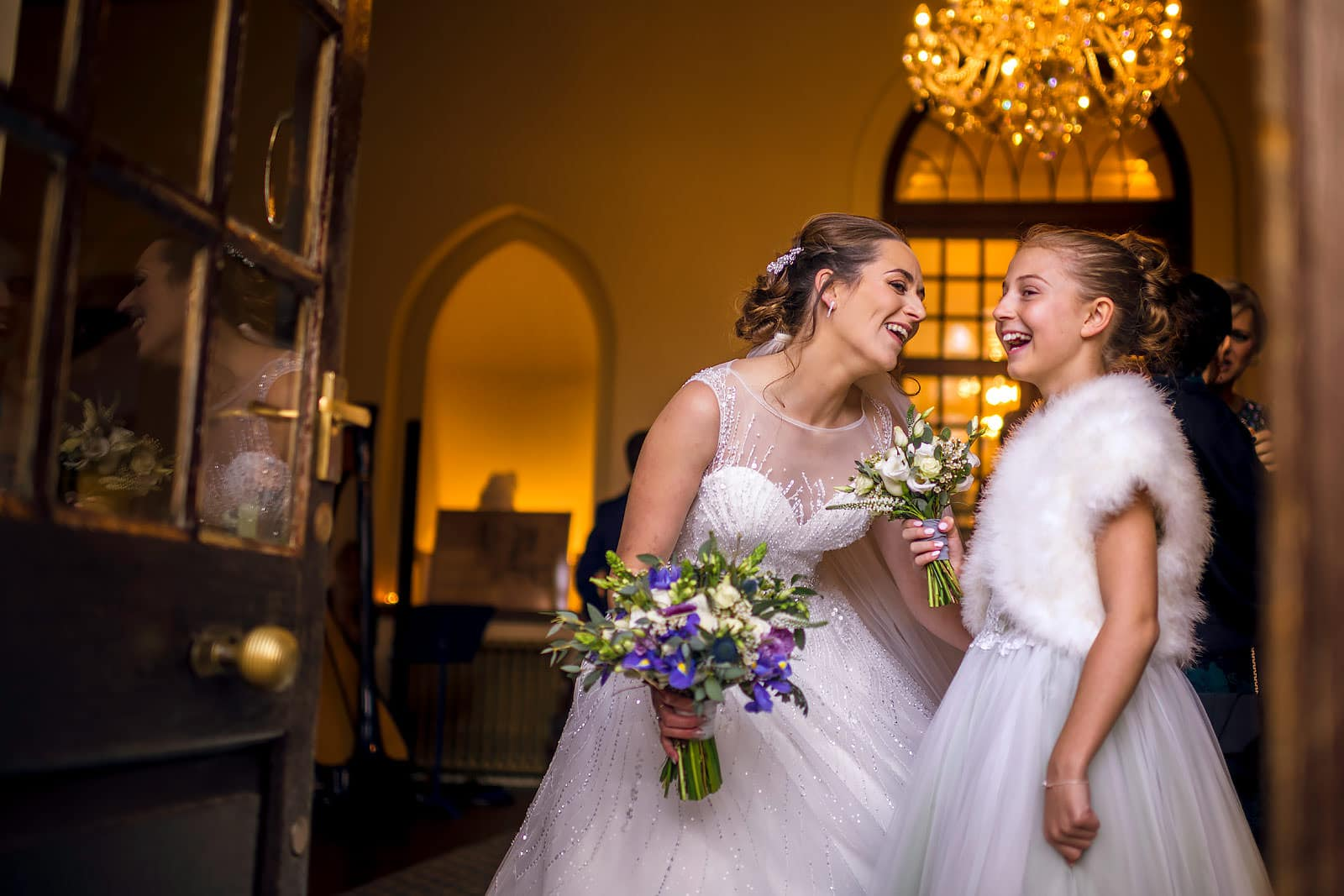 Bride and her daughter share a moment