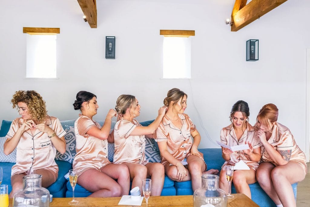 Bridal prep at Stone Bran in the Cotswolds