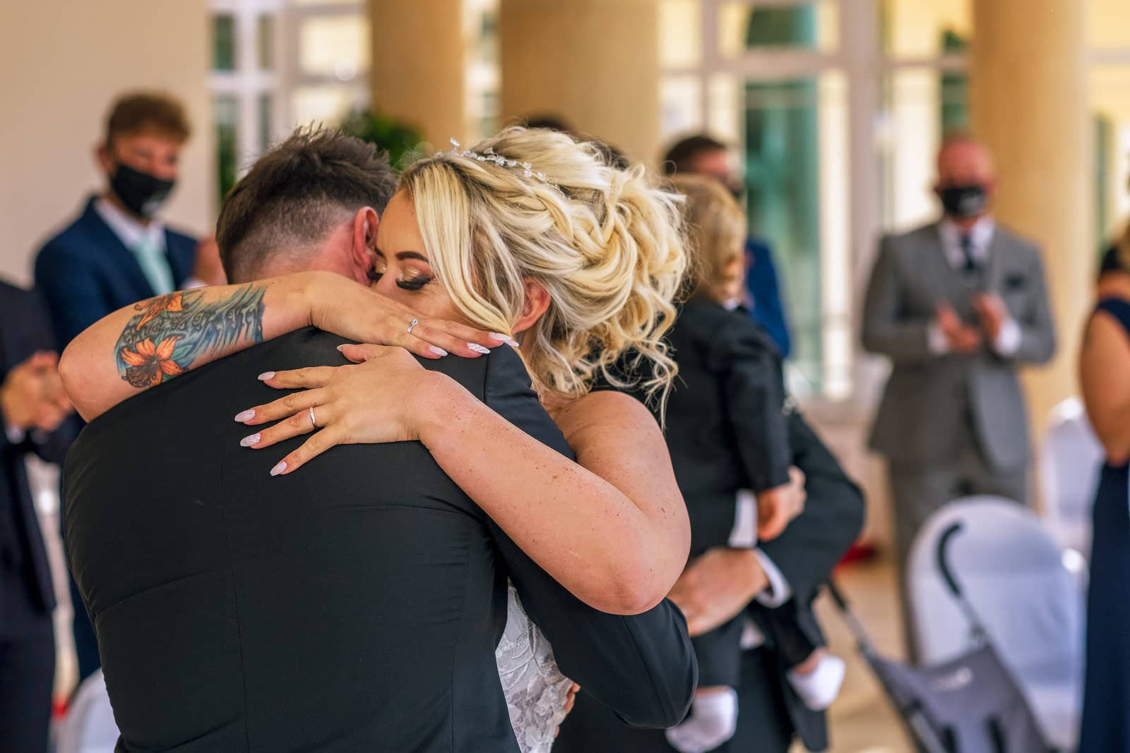 Emotional wedding at the Vale resort