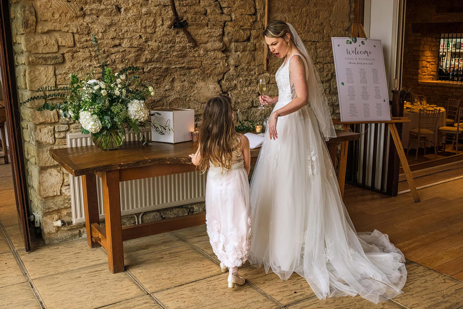 The Great Tythe Barn wedding