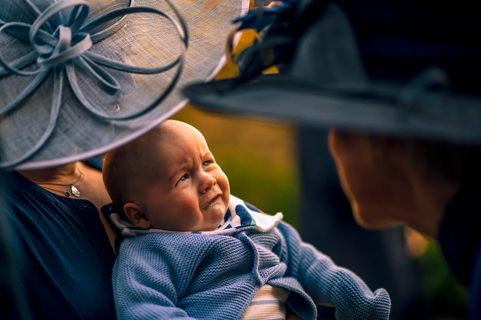 Baby crying at the wedding