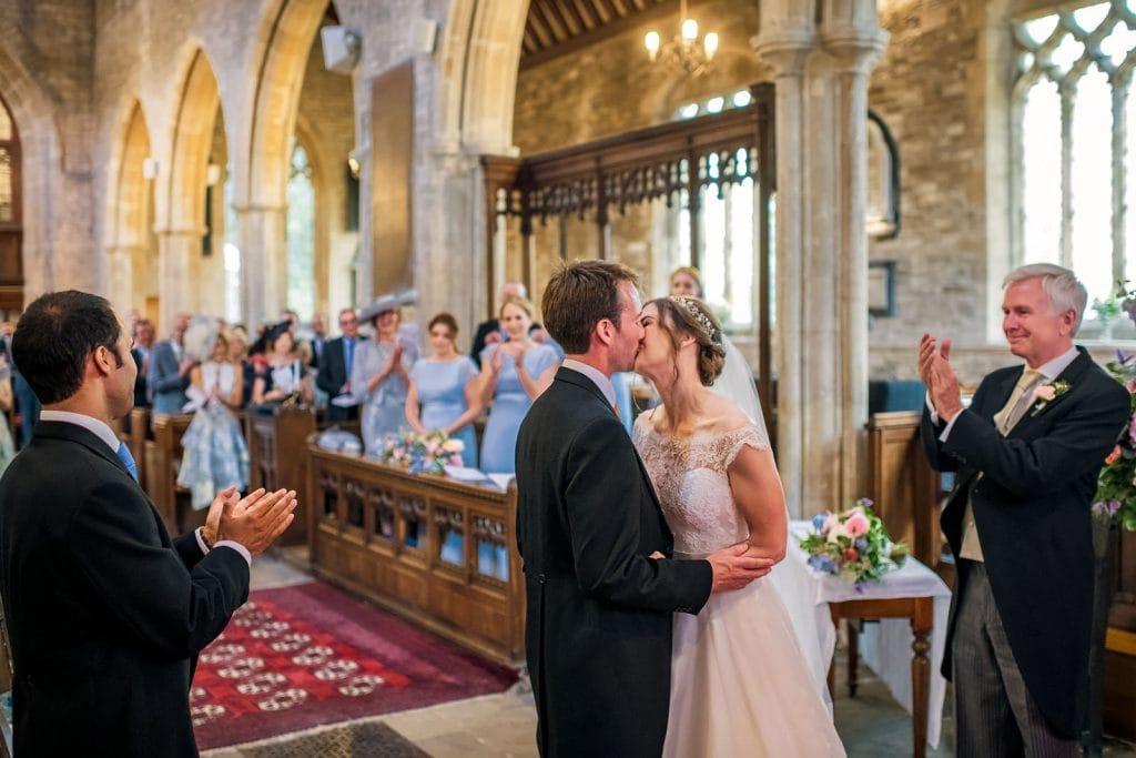 Magical first kiss in church