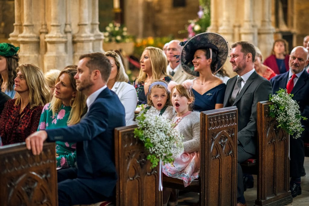Children enjoying the wedding in Cirencester